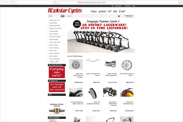 Rockstar Cycles  Shop Motorad - Gießen