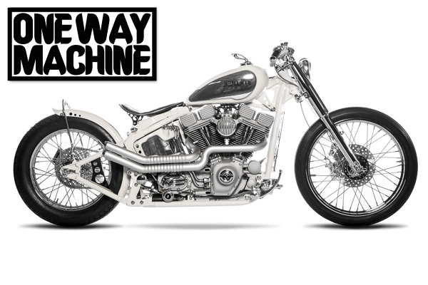 "One Way Machine  Custom Bike ""White Liner"" - Gießen"