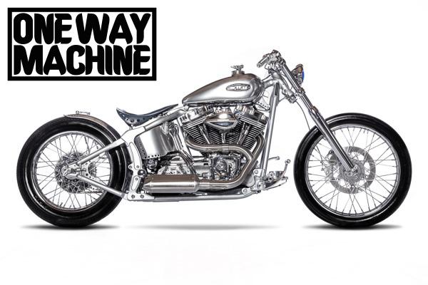 """One Way Machine  Custom Bike """"Silver Storm"""" - Gießen"""