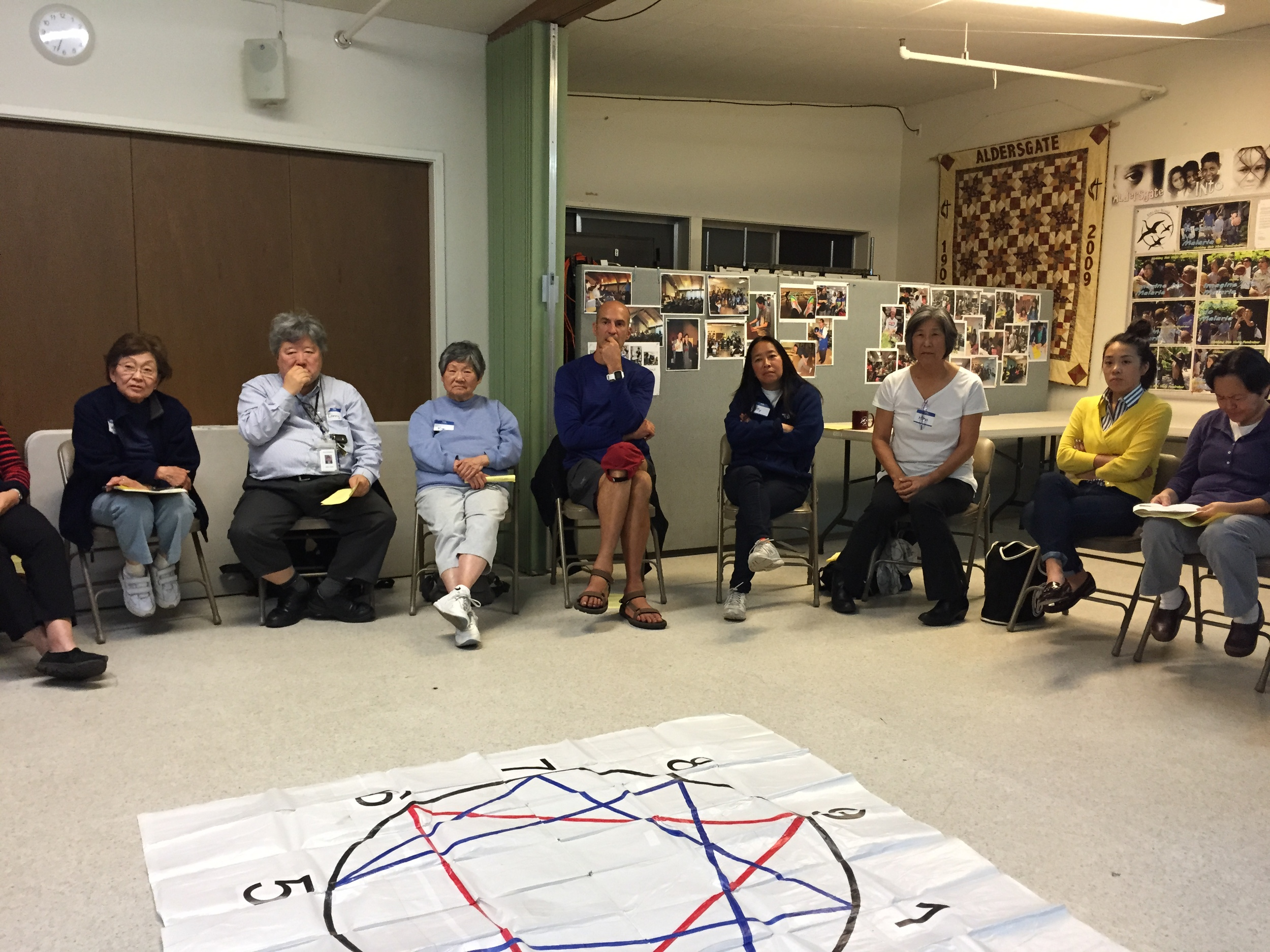 "Participants in cSl's ""enneagram and spirituality"" workshop"