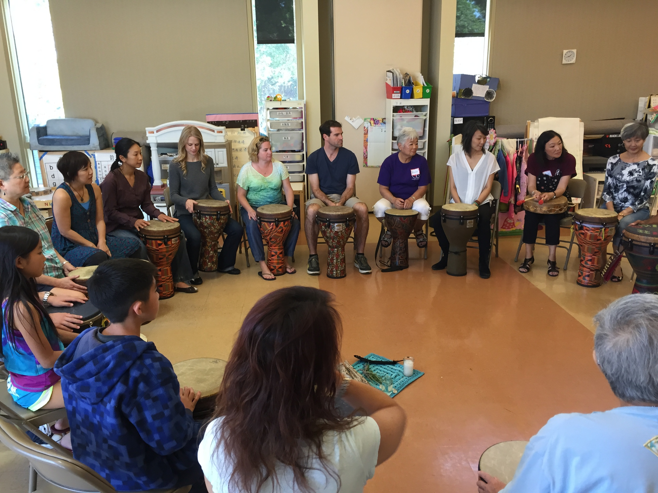 CSL's first medicinal group drumming circle