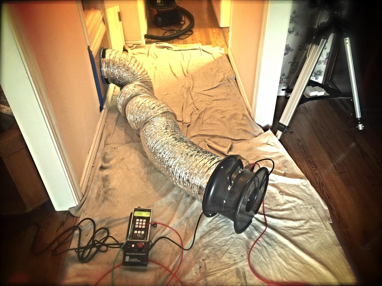 Air Duct Leak Test