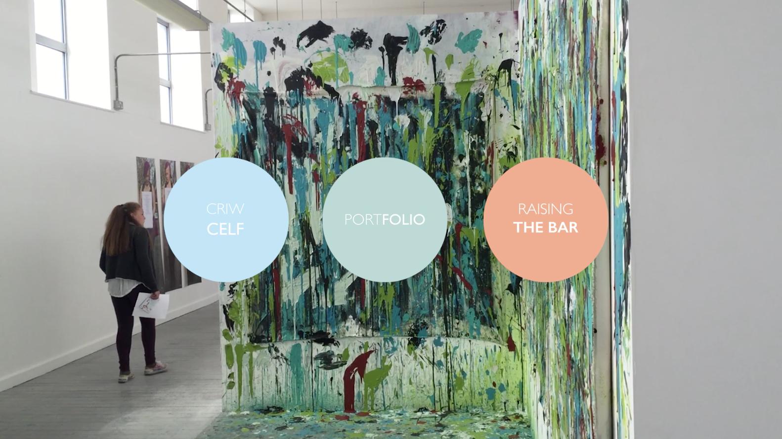 Criw Celf West visit Swansea College of Art Degree Exhibitions