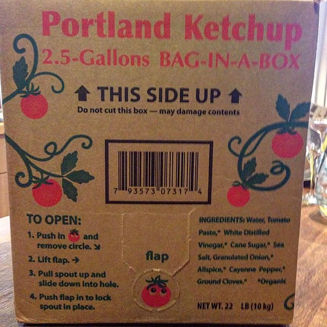 What do you get the family that loves #ketchup to a fault?  The best in the world! @portlandiafoods Portland Ketchup.  2.5 gallons of it in a shelf-stable bag-in-a-box.  We'll be lucky if this makes it to summer grill season!  #pdx #pnw #cascadiaexplored #oregon #gorgelife