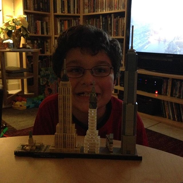 Iconic #architecture from the #nyc skyline:  complete.  #lego #legoarchitecture