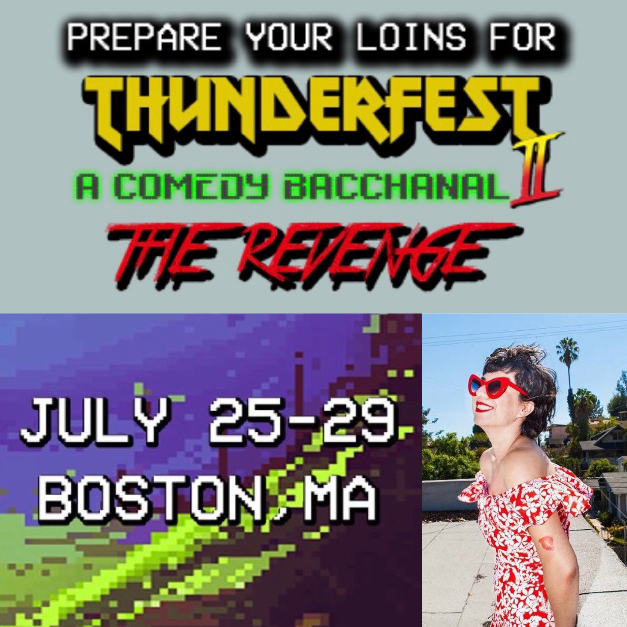 Performing at Thunderbar Comedy Festival in Boston! Full rundown of shows  here