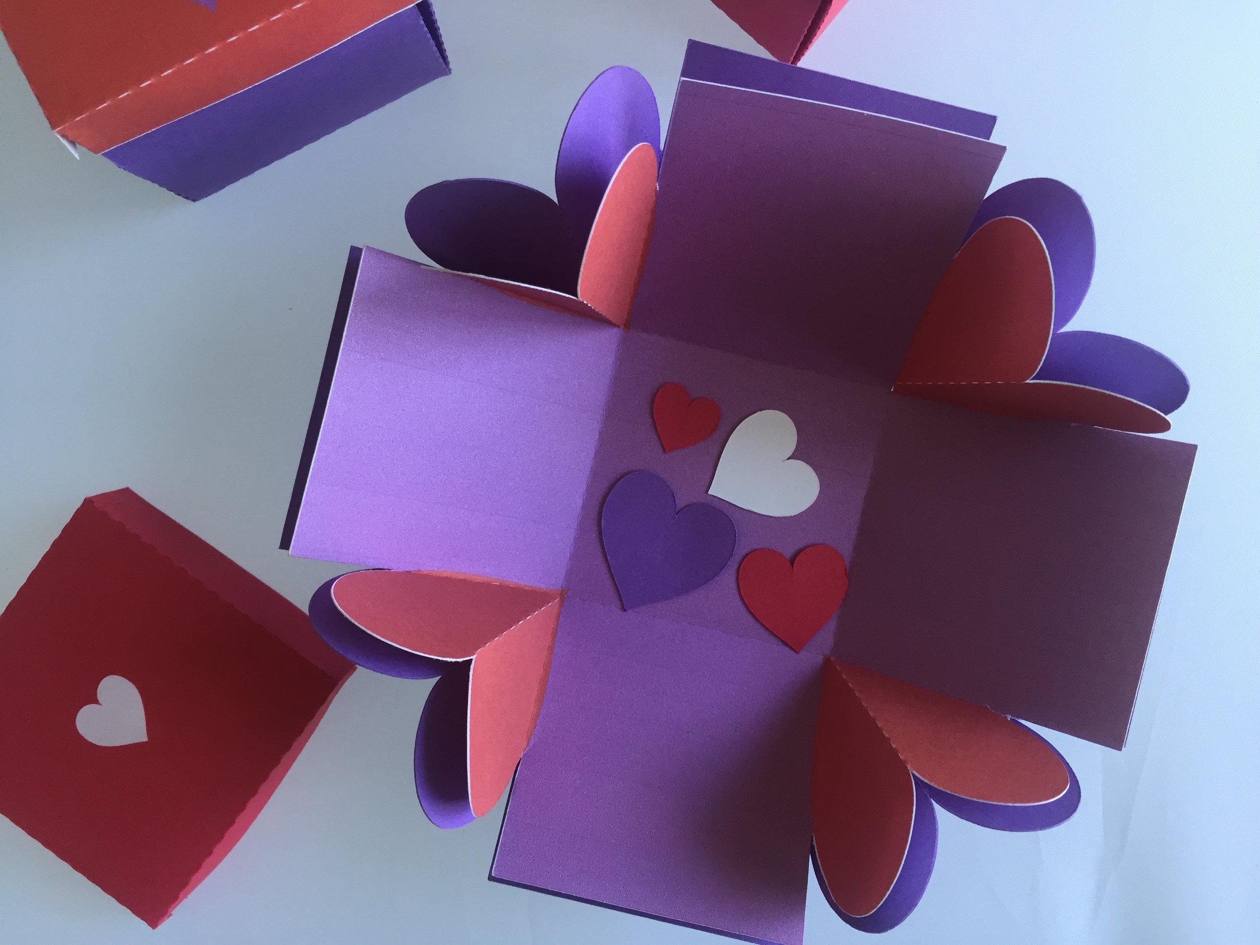 Heart Explosion Box (Open)