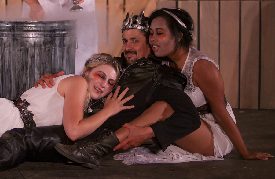 Dana Pollak, Luis Galindo & Ashley Nguyen in Macbeth (2013). Photo: Grettel Cortes.