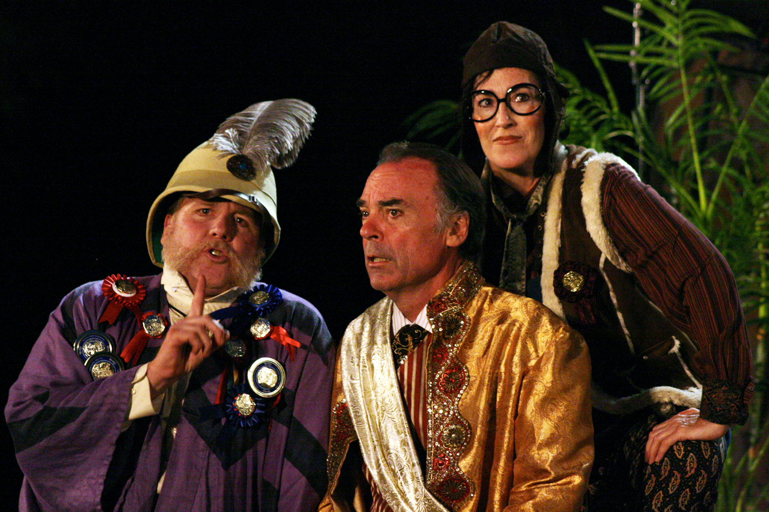 Danny Campbell, Joseph Culliton, and Bernadette Sullivan in Much Ado About Nothing, 2010. Photo: Ivy Augusta