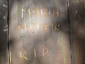 A Tribute to maria martin. Suffolk, england.