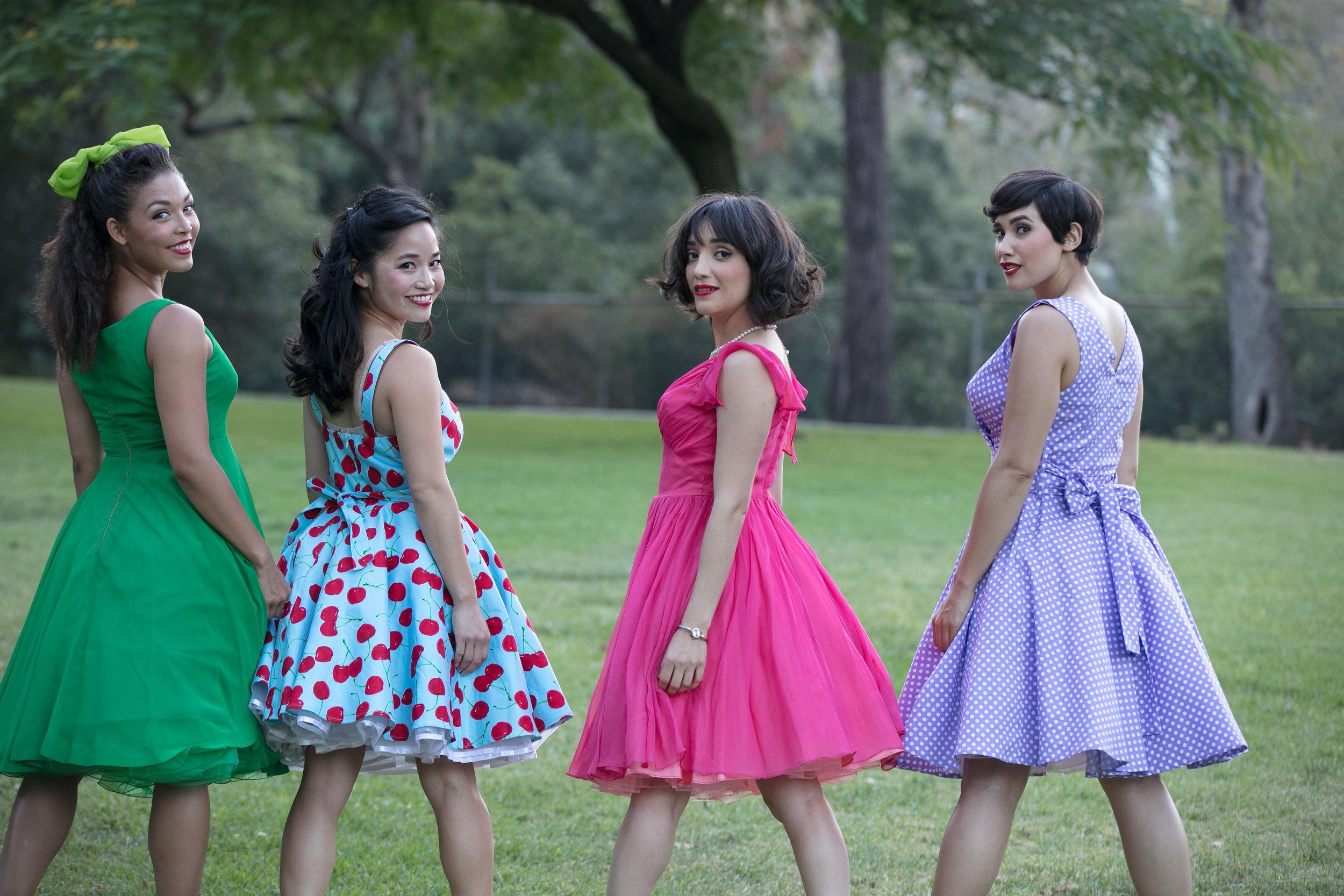 Katie Powers-Faulk. Sylvia Kwan, Erika Soto, April Fritz. Photo: Grettel Cortes