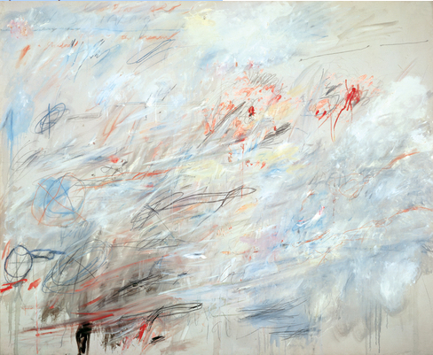Cy Twombly (b. 1928),  Untitled  , 1964/84. Oil stick, wax crayon and graphite on canvas, 80 1/2 × 98 1/4 . in. (204.5 × 249.6 cm). Promised gift of Emily Fisher Landau P.2010.351. Photograph by Jerry L. Thompson