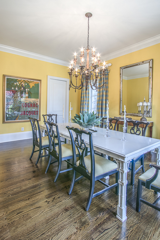 Yellow Dining Room - Art Lover's Dream Home
