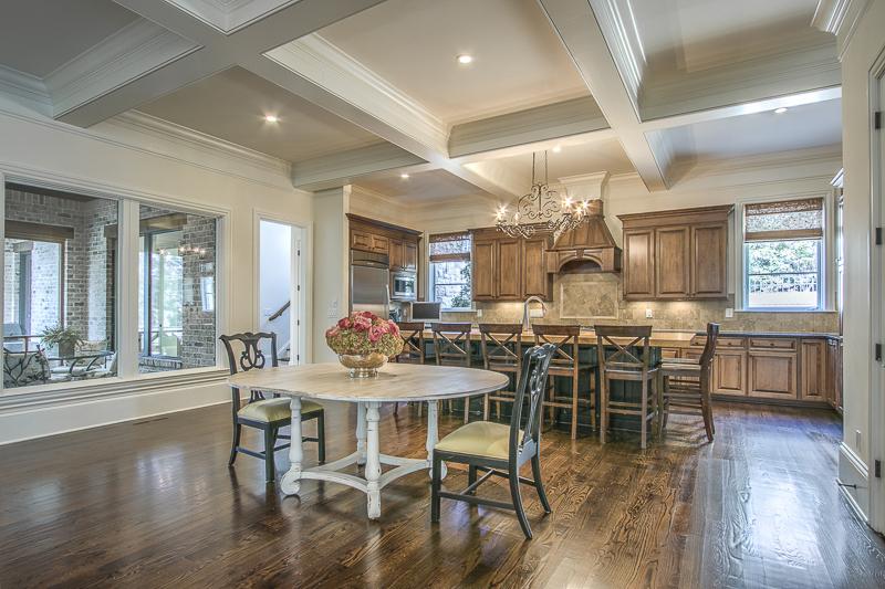 Kitchen - white beams - art lover's dream home