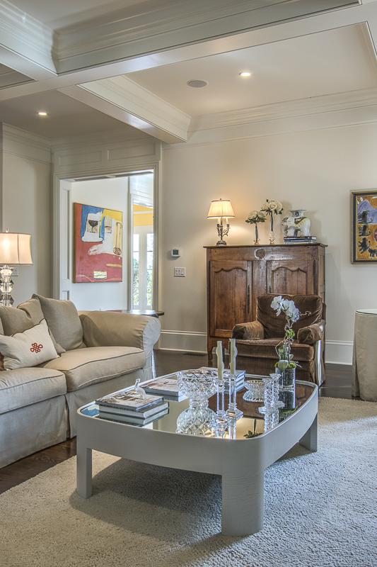 Living room looking to foyer - art - art lover's dream home