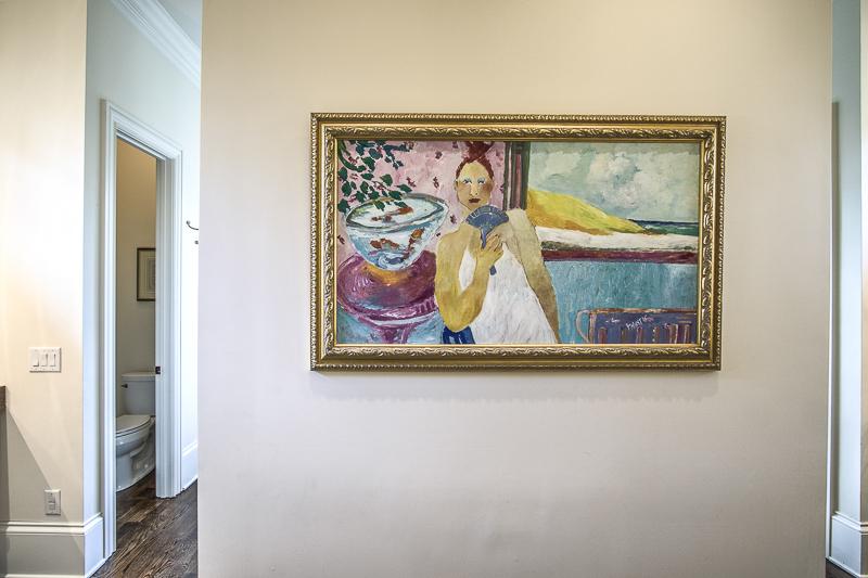 art in master bath - art lover's dream home