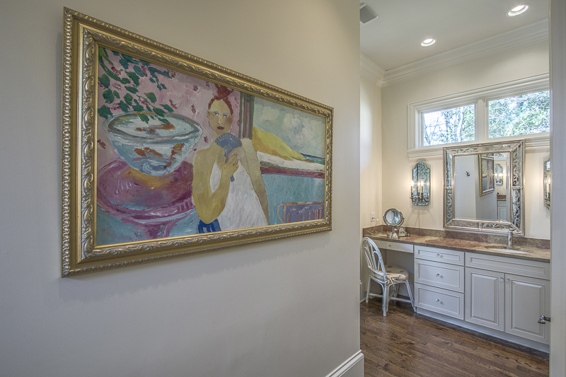 art in master bath - art lover's dream home