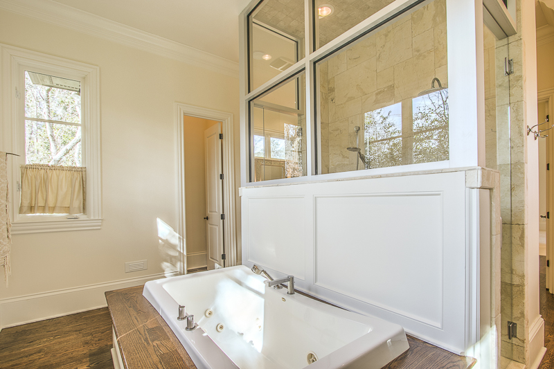 master bath - master shower - glass