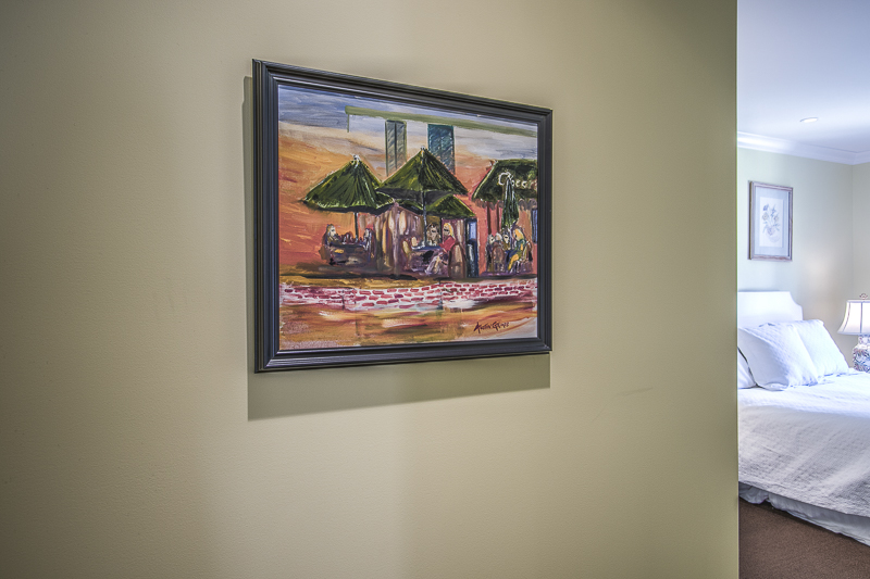 Art in guest room
