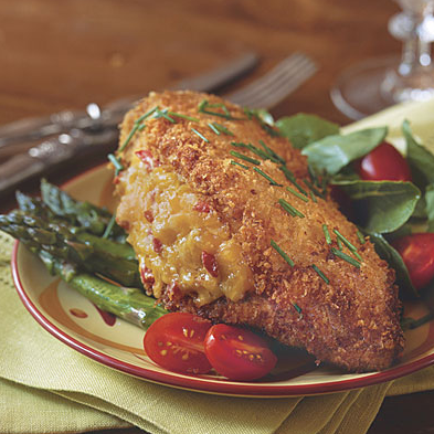 Pimento Cheese Stuffed Fried Chicken