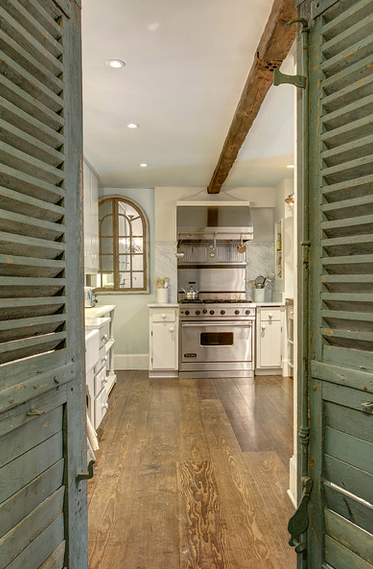 French Doors to Kitchen