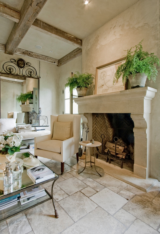 Stone floors and beams