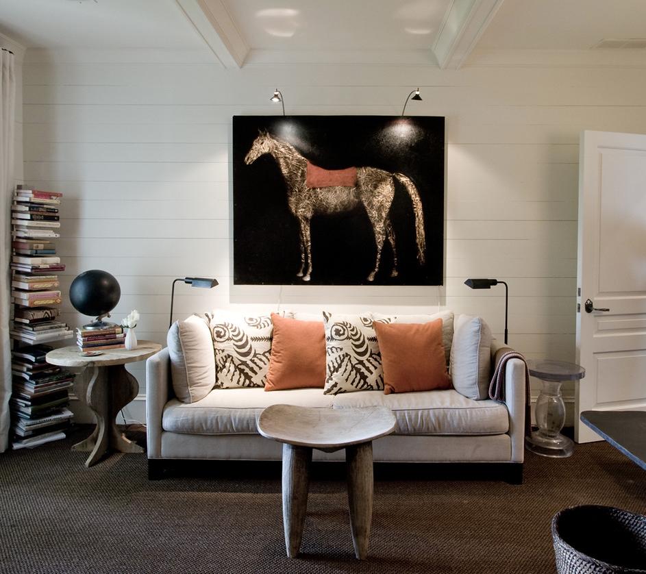 Horse art and orange