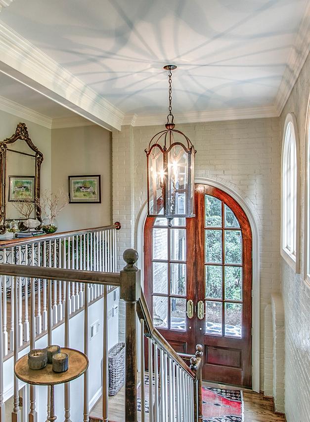 Stairway in Brick foyer