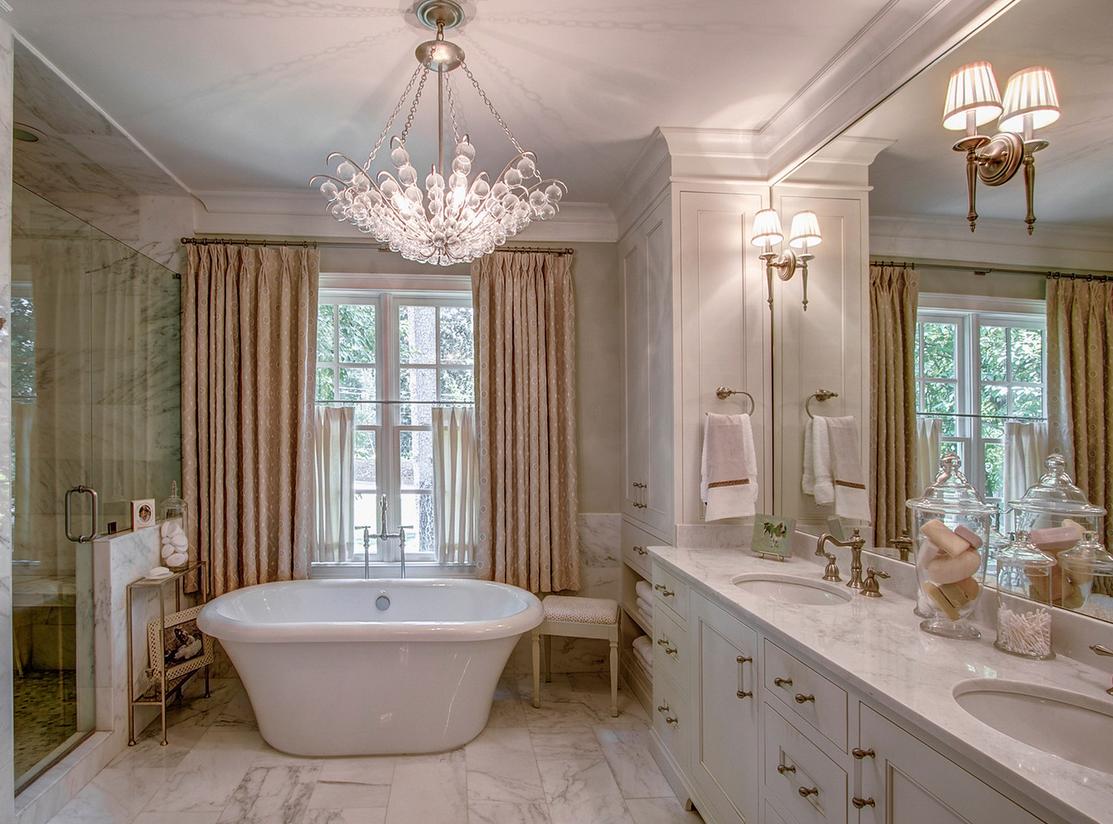Master bath tub and shower