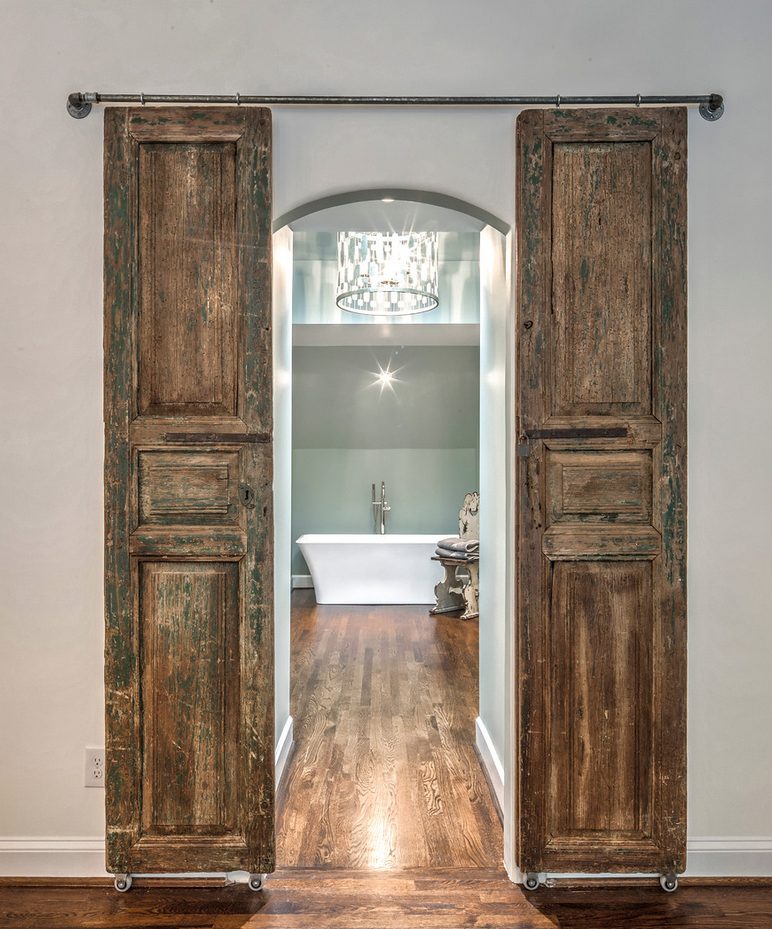 Barn Doors to master bath