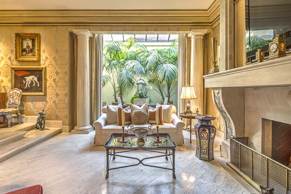 Master sitting room to garden room