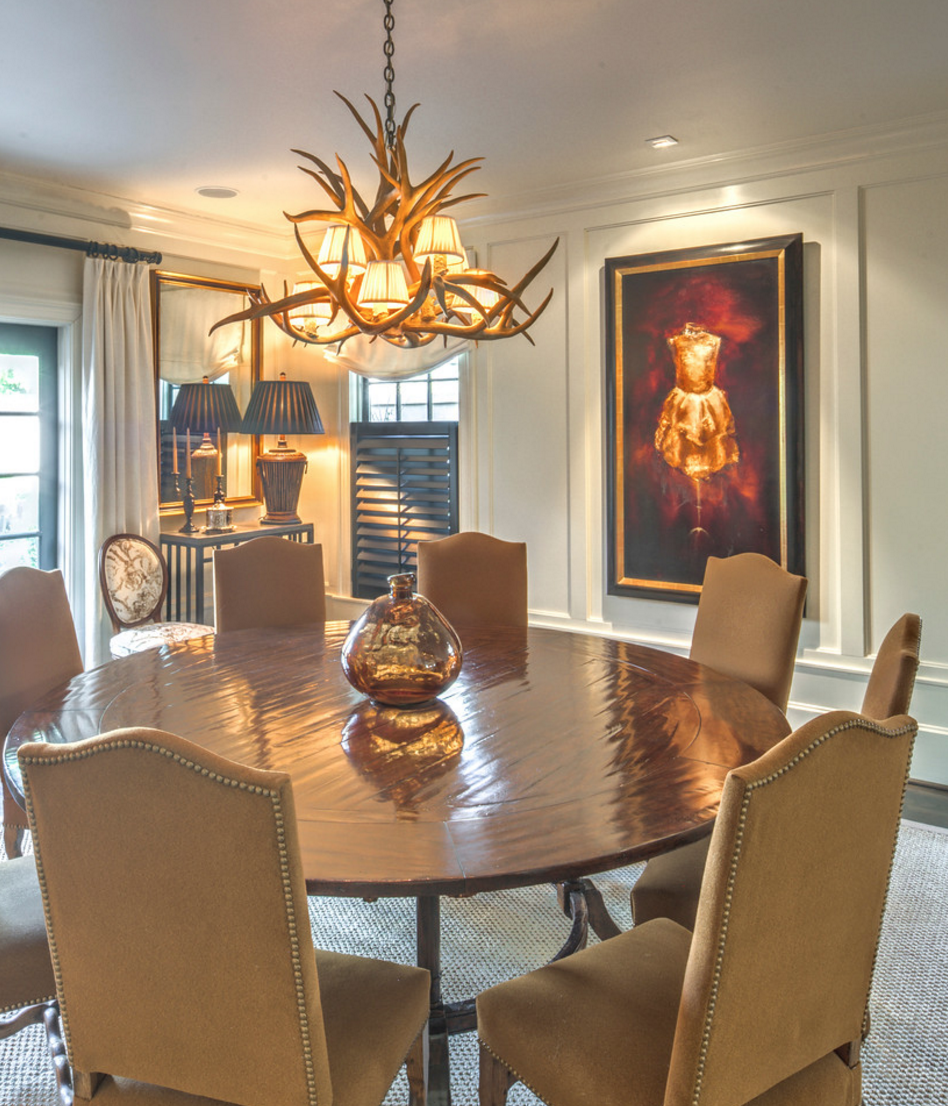 Dining Room with art