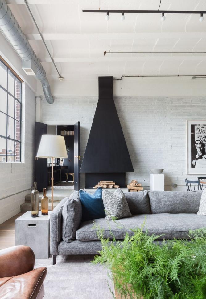 c/o  Elle Decor  - Photo by  Alyssa Rosenheck - sofa by Montauk