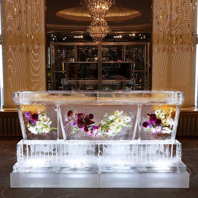 Forever Beautiful🌹 #IceBar #Flowers #FrozenInside #flowerfrozen #IceSculpture #okamotostudio