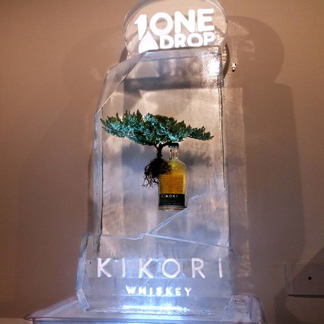 Experience your zen with a glass of Kikori Whiskey😌 #Kikori #KikoriBottle #BonsaiTree #Bonsai #Logo #Snowfill #Engrave #okamotostudio