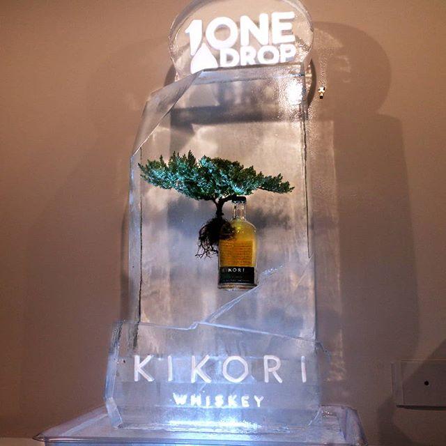 Experience your zen with a glass of Kikori Whiskey😌 #Kikori #KikoriBottle #BonsaiTree #Bonsai #Logo #Snowfill #Engrave #okamotostudio