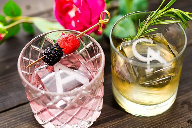 Make it memorable🥂 #cocktailice #monogram #thirstythursdays #drinks #IceModern #okamotostudio