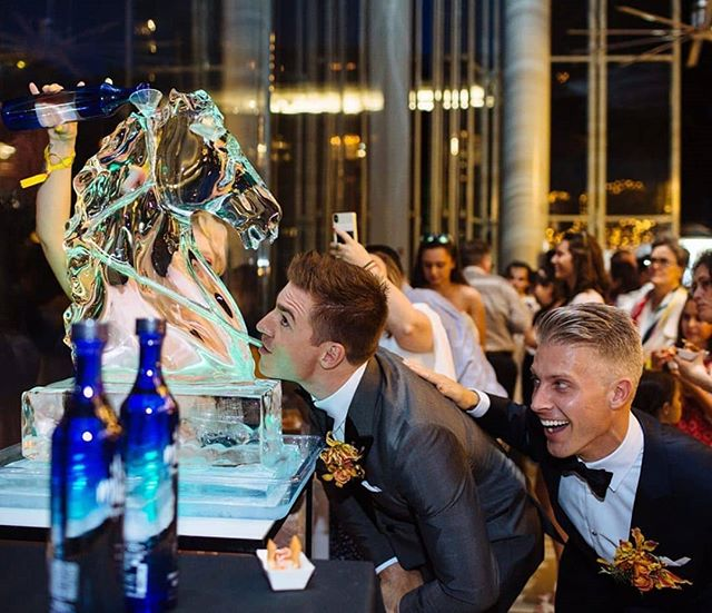 Glad everyone had a magical night!🦄 #Repost @mrjasonmitchell ・・・ Since they couldn't get married on unicorns, we had this beauty serve tequila all night. #weddingwednesday #unicorndreams #twogrooms 📸 @liz_devine 🦄 @okamotostudio  I I #carouselwedding #brooklynwedding #dumbo #dumbowedding #jmkwedding #jmkandco #jasonmitchellkahn #loveislove #samelove #mrandmr #twogrooms #gettinggroomed #moderngroom #twogroomsarebetterthanone #gaywedding #gaymarriage #samesexmarriage #samesexwedding #gaysofinsta #brooklyngay #gayforgay #weddingsofinstagram #instawedding #junewedding #weddinghashtag #yesboys
