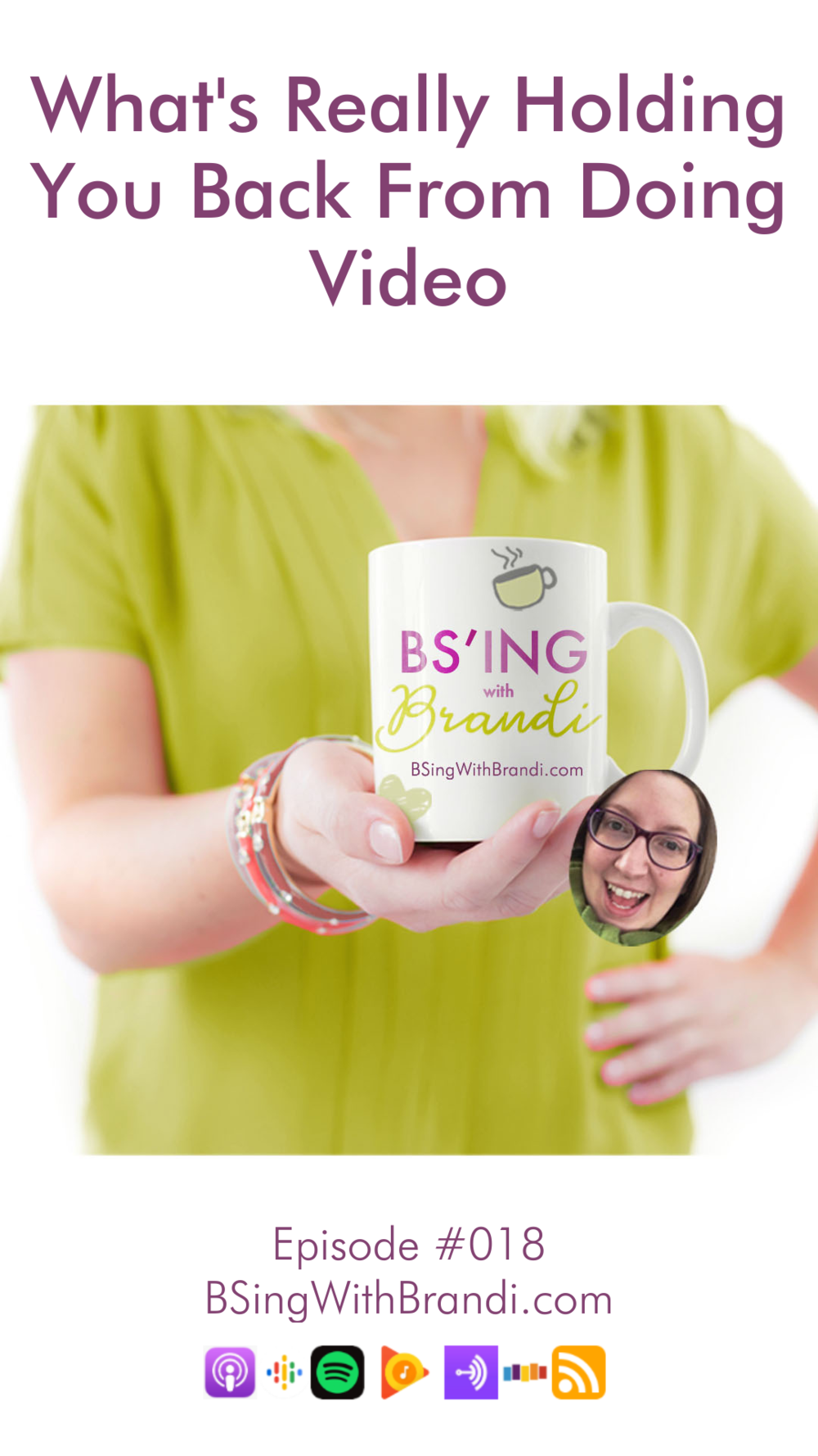Welcome to BS'ing with Brandi where my mission is to help you #GetShitDone. I'm your host Brandi Good and today we're going to talk about one of the biggest reasons you're not doing video for your business. One of the big reasons is tech confusion and frustration, but I talk and write about that all of the time. Today's episode is tackling something a bit more personal, a bit more uncomfortable: fear. Specifically fear of criticism.