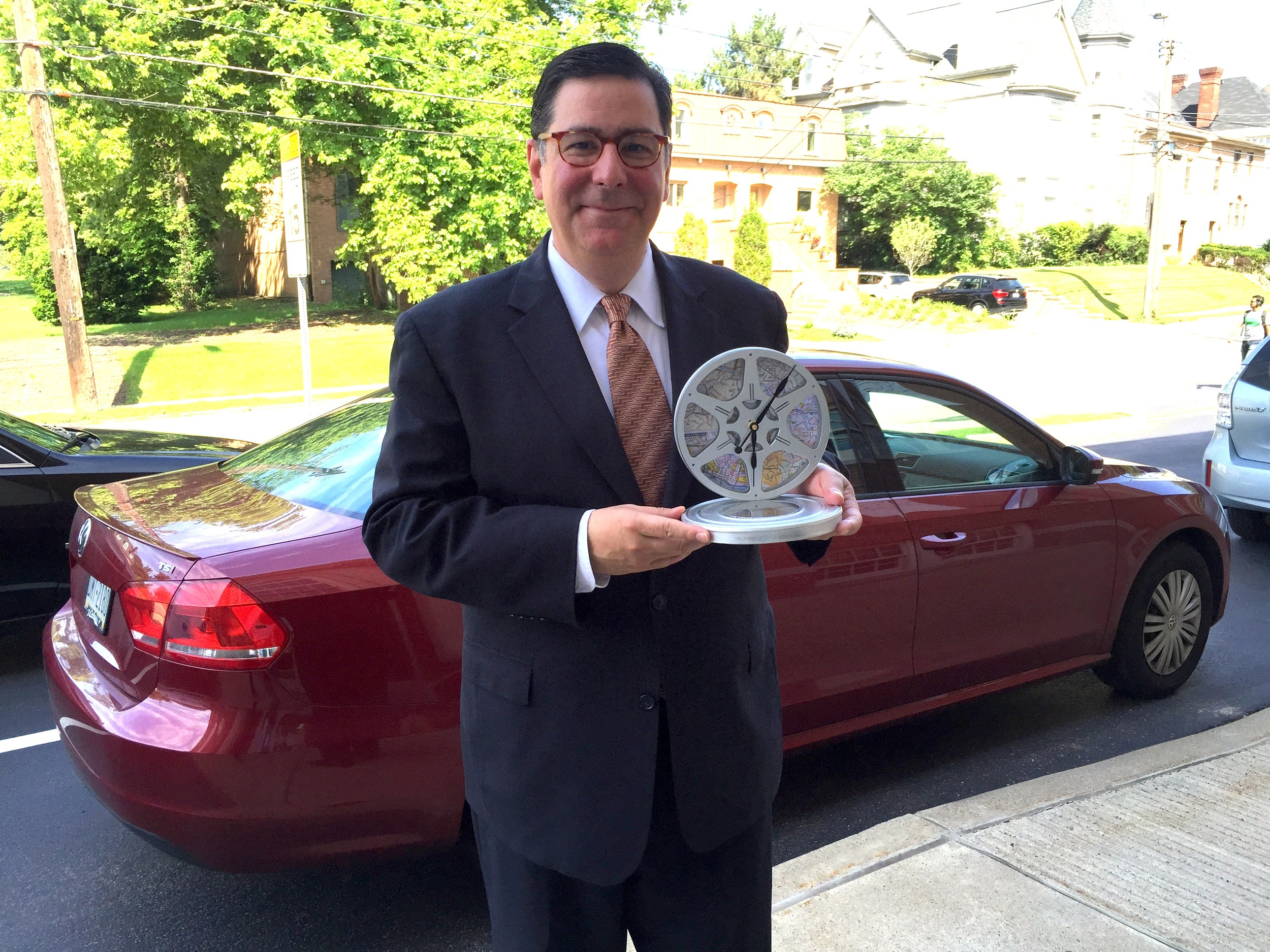 Mayor Paduto and his Person of the Year Award.
