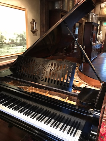 Fantastic listening to John sing & play The Farm Table's historic Bechstein piano!