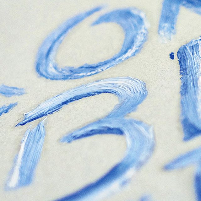 Only blue matters seul le bleu importe 🐟🌊🎣🏄🏊 ~ Handbrush painted love ~ #handtype #ocean #bleusurbleu #chips #brush #typedesign #fontdesign #wave #violon #peinture #graphicdesign  #handmadefont #craft