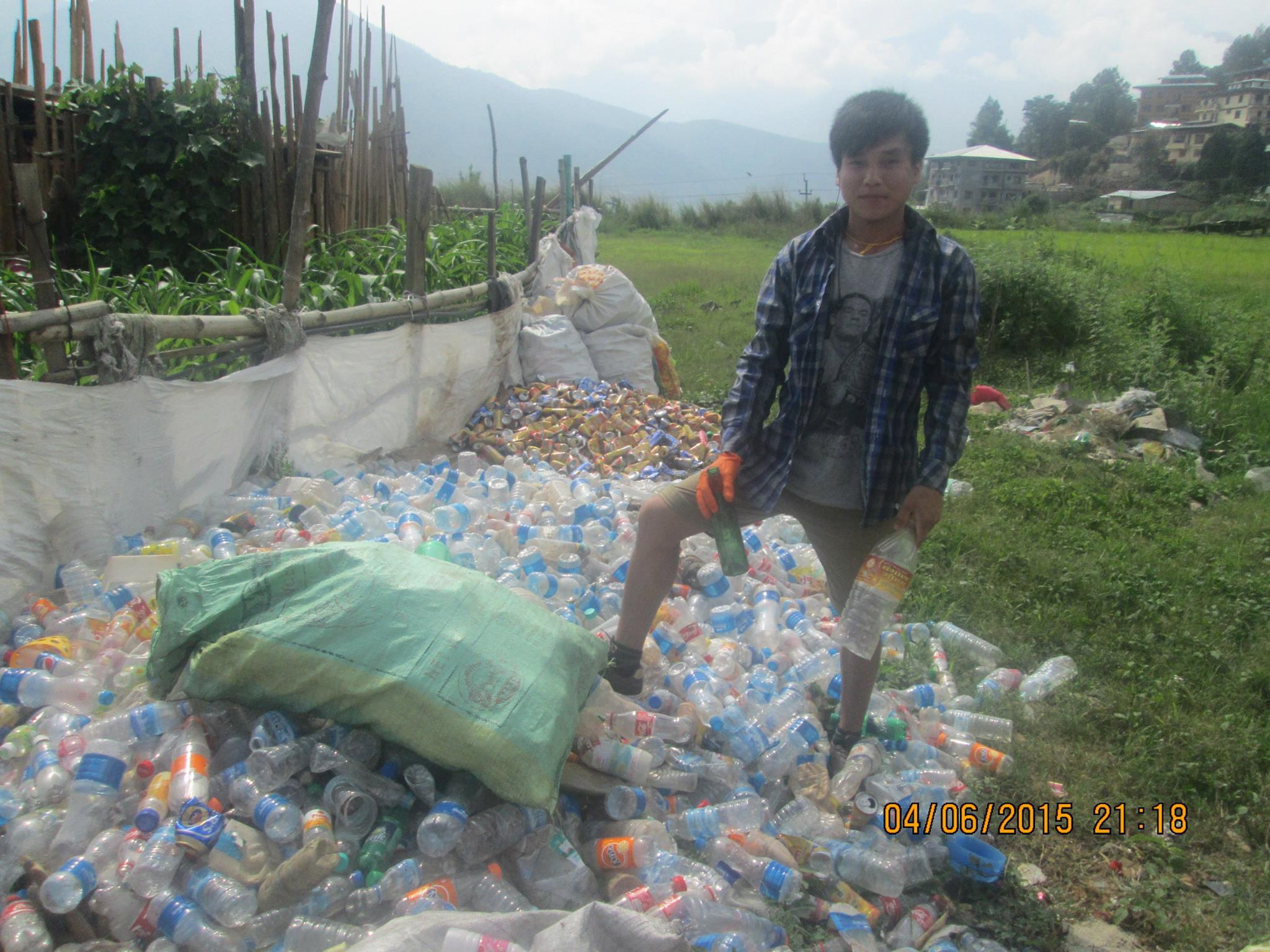 Earth Guardians Bhutan has done several clean ups where they separated recycling and made sure it went to the right facility to be properly recycled.