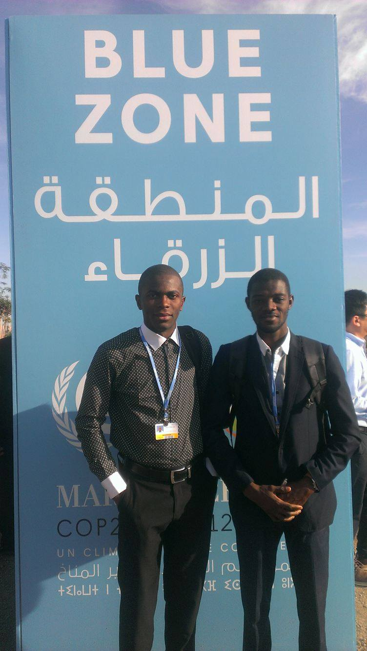 Mensa and Udeh at the Blue Zone at COP22