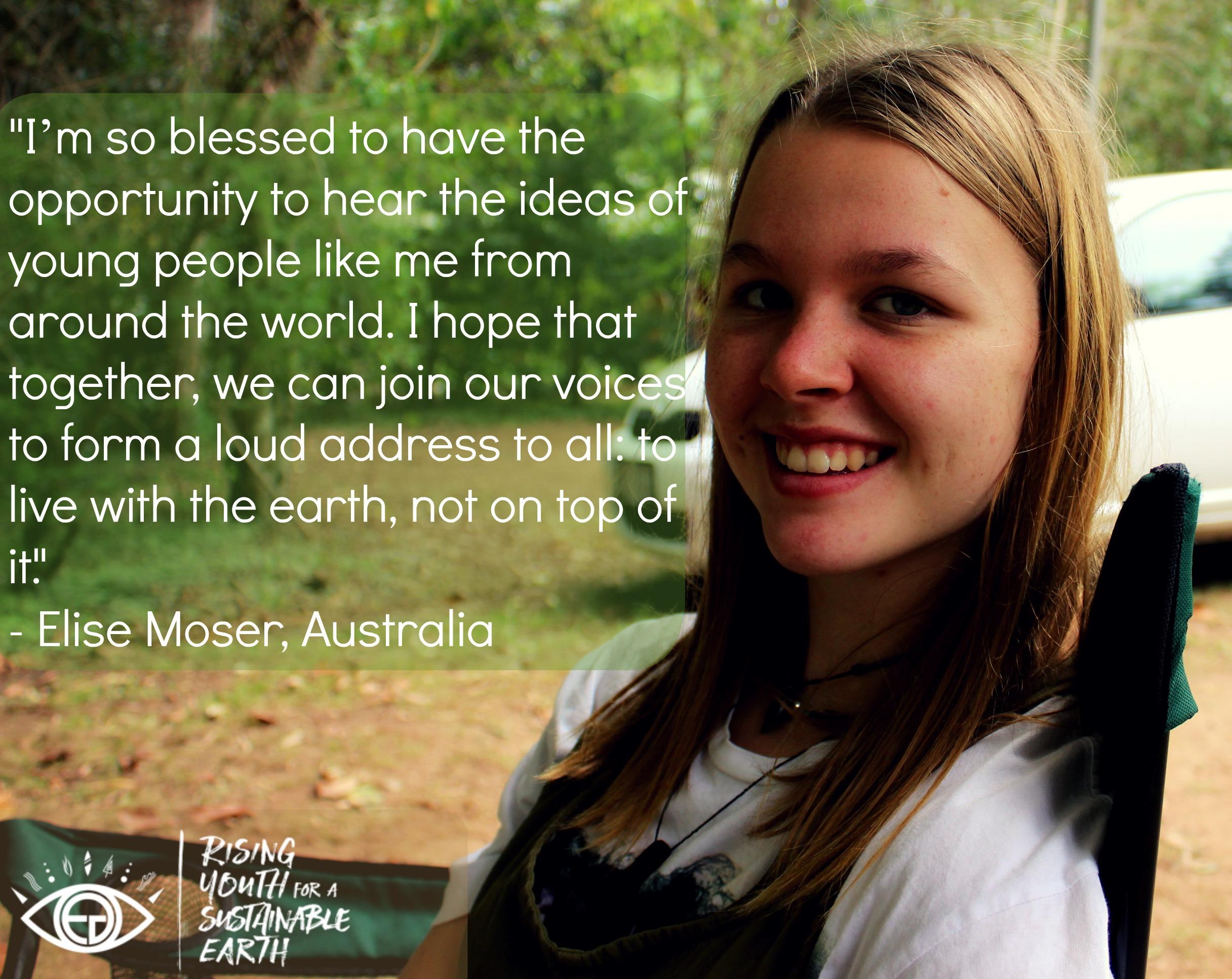Elise Moser, age 18
