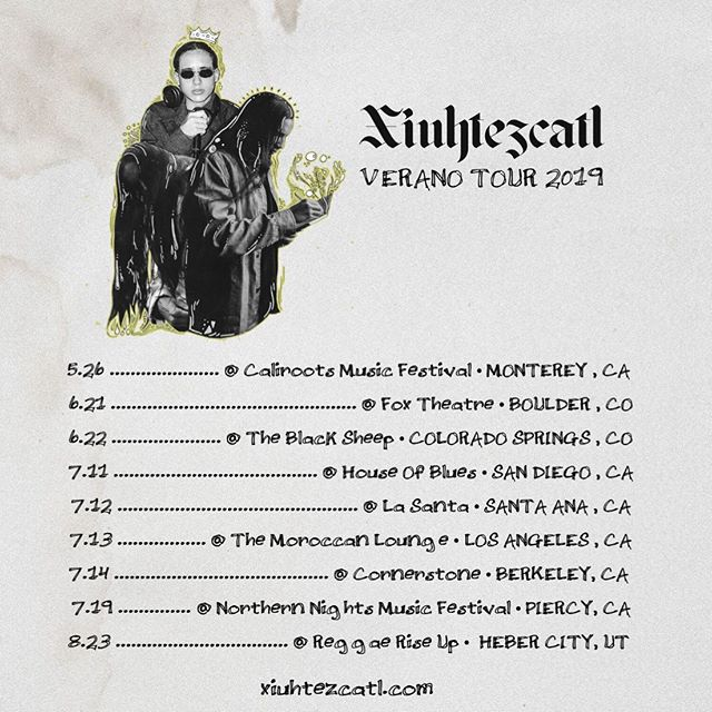 Hey peeps, don't forget to get your tickets for one of Xiuhtezcatl's upcoming shows. They are going to be 🔥! You can link to tickets through his website www.Xiuhtezcatl.com