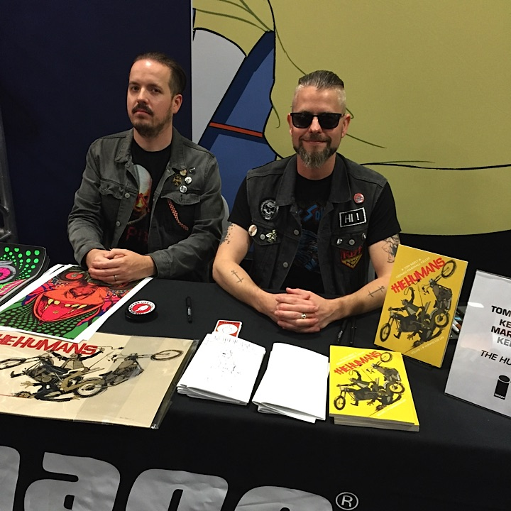 We were two well behaved dudes at our IMAGE signing...