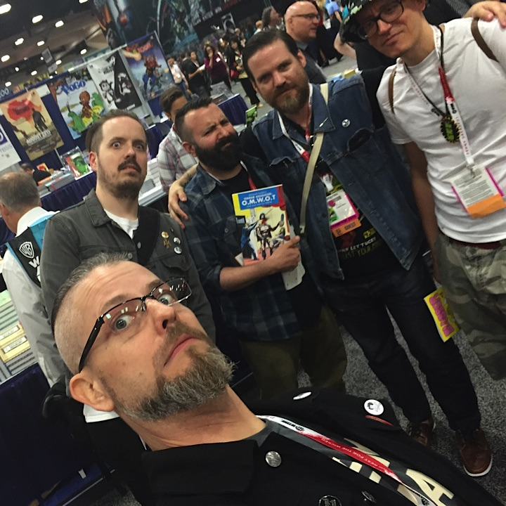 Partied with these dudes most of the weekend. left to right: Tom, Keenan, Ed Luce, Benjamin Marra, and Ed Pisker. Solid guys that make great fuckin' comics.