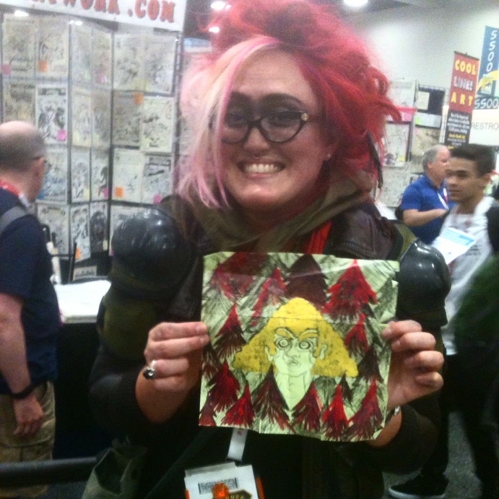 Even Keenan's older comic GALACTIC BREAKDOWN got some love from Krysta. She made this post-it note piece of ROIDS!!!