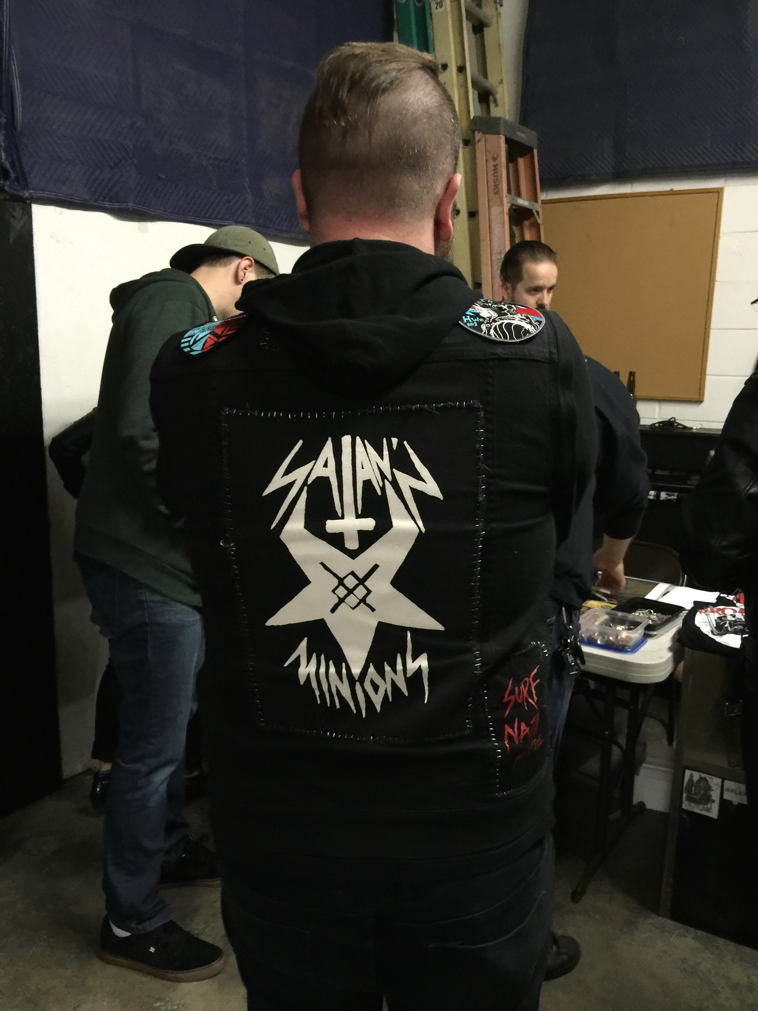 Tom K. was also sporting his homemade Satan'z Minions patch!!